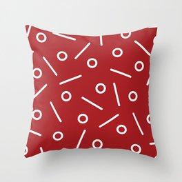 Fun Minimal Red Throw Pillow