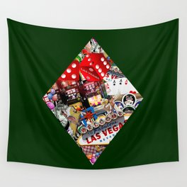 Diamond Playing Card Shape - Las Vegas Icons Wall Tapestry