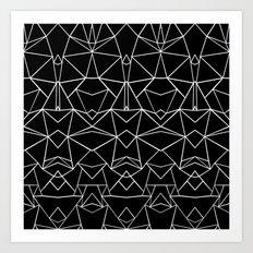 Ab Mirror Black Art Print