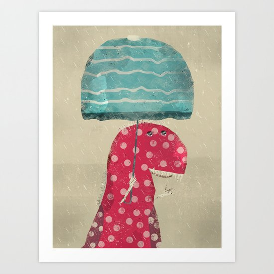its raining again Art Print