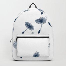 Wispy Blue Dandelion Seeds Blowing in the Breeze Backpack