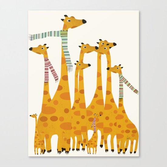 giraffe do disco Canvas Print