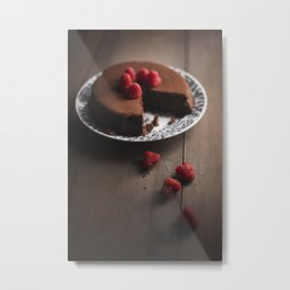 Chocolate cake. Metal Print