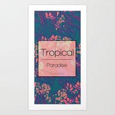 Tropical Paradise: Purple Haze Art Print
