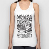 doughnut Tank Tops featuring Doughnut City by Adam Travers