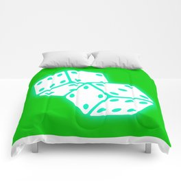 Two game dices neon light design Comforters