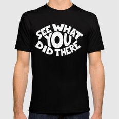Eye See What You Did MEDIUM Mens Fitted Tee Black