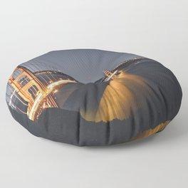 Golden Gate Glowing Floor Pillow