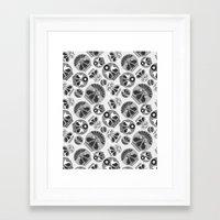 sugar skulls Framed Art Prints featuring SUGAR SKULLS by Kiley Victoria
