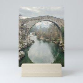 The hump-backed Roman Bridge Mini Art Print