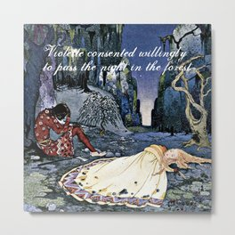 French Fairy Tales ~ Violette ~ Bookish Decor Metal Print
