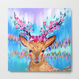 Woodland Creature Metal Print