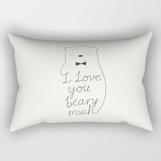 I love your beary much Rectangular Pillow
