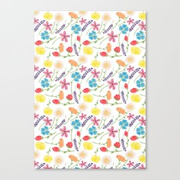 The Little Flowers  Print Canvas Print