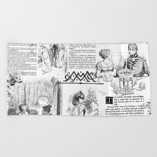 Pride and Prejudice - Pages Beach Towel