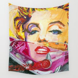 Legends - Ford Thunderbird and MarilynMonroe Wall Tapestry