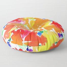 Rainbow Bouquet Floor Pillow