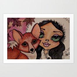 Foxy Fall Art Print