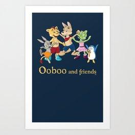 Ooboo and friends - Everyone Art Print