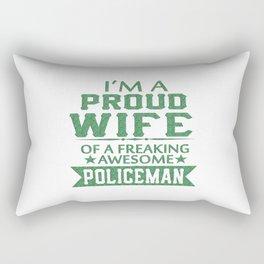 I'M A PROUD POLICEMAN'S WIFE Rectangular Pillow