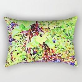 Hortus Conclusus: black grapes on the ground Rectangular Pillow
