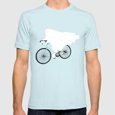 Negative Ghostrider. Mens Fitted Tee SMALL Light Blue