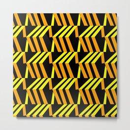 3d asymmetrical yellow and orange boxes Metal Print