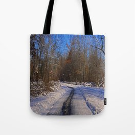 Frosty Footpath Tote Bag