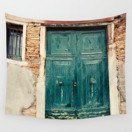 Turquoise Door in Venice Wall Tapestry