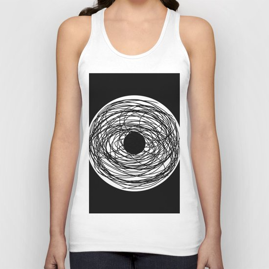 Eye Of The Storm - Abstract, black and white, minimalistic, minimal artwork Unisex Tank Top