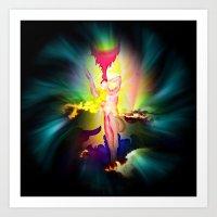 Heavenly appearance angel Art Print