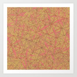 Coral Textural Geo Art Print