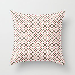 Chocolate Brown + Coral:  Pattern No.3 Throw Pillow
