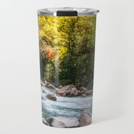 Beautiful Sun Light over Cleddan River, New Zealand Travel Mug