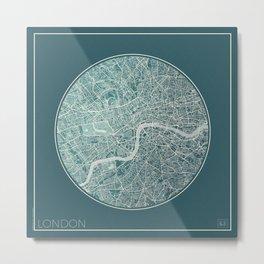 London Map Planet Metal Print