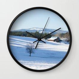 Snowy Barn Wall Clock