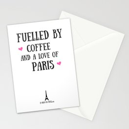 Fuelled by Coffee and a Love of Paris (UK) Stationery Cards