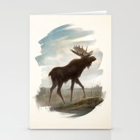 moose Stationery Cards featuring Moose by Alex Perkins