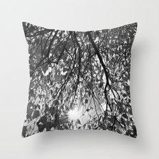 Autumn In Monochrome  Throw Pillow