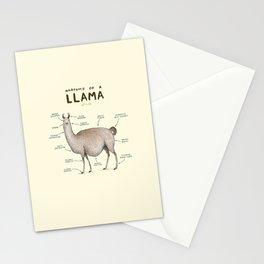 Anatomy of a Llama Stationery Cards
