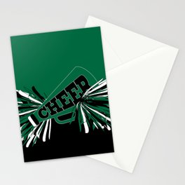 Dark Green Cheerleader Stationery Cards
