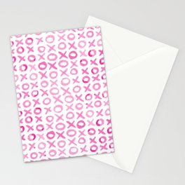 Xoxo valentine's day - pink Stationery Cards