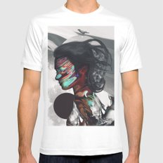 Map of Your Head MEDIUM Mens Fitted Tee White