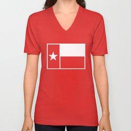 TX Texas Flag V1 Unisex V-Neck