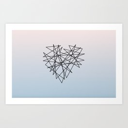 Tangled Heart  Art Print