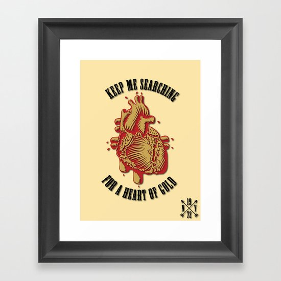 """Heart of Gold""  (""ANALOG zine"") Framed Art Print"