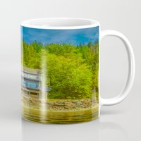 cabin Mugs featuring Squilax Cabin by Thomas Loewen
