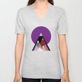 Geometric Mountains Unisex V-Neck