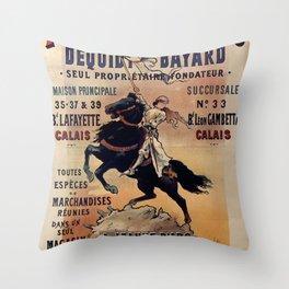 JEANNE D'ARC Dequidt Bayard - Calais 1898 Throw Pillow