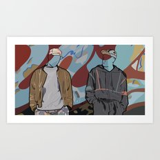 White men can't jump Art Print